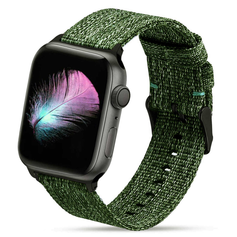 المنسوجة حزام نايلون ل أبل سلسلة ساعة 3/2/1 38 مللي متر 42 مللي متر تنفس استبدال حزام الرياضة حلقة ل iwatch سلسلة 5 4 40 مللي متر 44 مللي متر