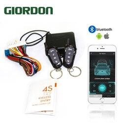 GIORDON Universal Car Auto System dostępu bezkluczykowy przycisk brelok centralny zestaw zamka drzwi z pilotem Start Stop APP