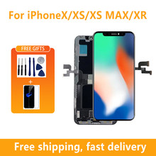 AAA+++ OLED Display for iPhone X XR XS Max With 3D Touch Display for iPhone 11 Pro Max Screen Replacement Assembly True Tone