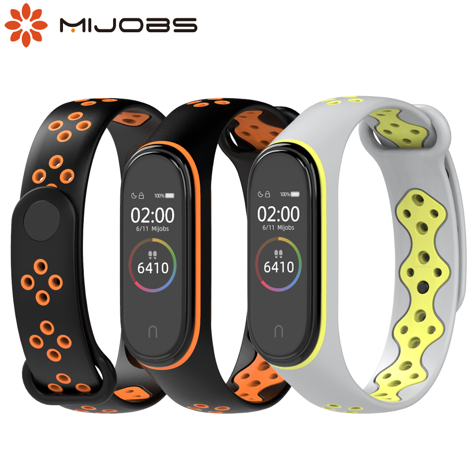 For Xiaomi Mi Band 4 3 Silicone Replacement Wristband Strap Watchband TPU Bracelet for Mi Band 3/4 NFC Smart Watch Wristbands(China)