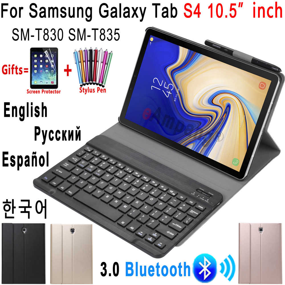 For Samsung Galaxy Tab S4 10 5 Keyboard Case T830 T835 Sm T830 Bluetooth Keyboard Leather Case Cover Funda With Pencil Holder Tablets E Books Case Aliexpress