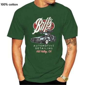 Back To The Future Biffs Automotive Hill Valley Mens T Shirt California Delorean Casual Short Sleeve Tee 010814 image