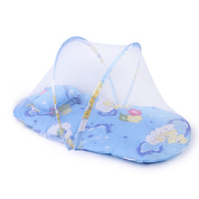 Baby Bedding New Portable Foldable Baby Bedding Crib Netting Baby Mosquito Nets Bed Mattress Pillow Three-piece Suit
