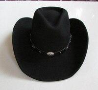 New Wool Waterproof Anti Wrinkle Men Ma Shu Mao Qi Shi Mao Cowboy Hat Large Brim Hat Gentleman Hat Black Mens Fedora Hat 2020