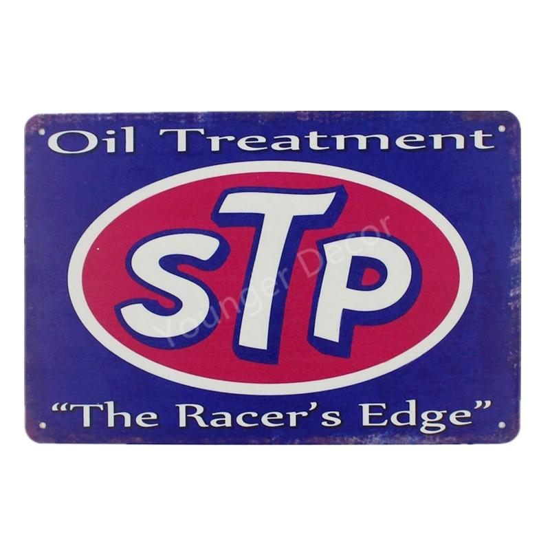 STP Oil Treatment Tin Sign STP Metal Sign STP Garage Oil Lube Gas Station Art