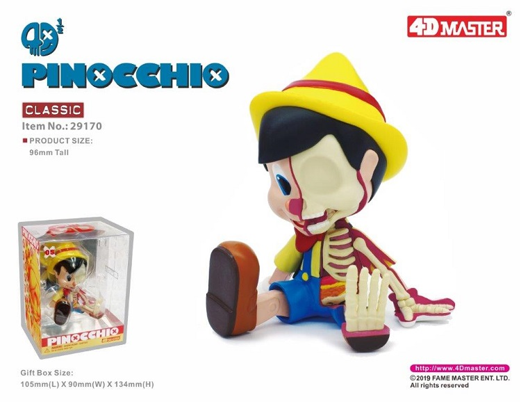 4D  Classic Color  Black And White Artist Mighty Jaxx Puppet Pinocchio