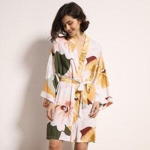 Image 2 - חדש קימונו חלוק חלוק רחצה נשים ויסקוזה שושבינה גלימות סקסי הדפסת גלימות ויסקוזה Robe גבירותיי הלבשה שמלות