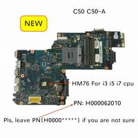 For Toshiba Satellite Pro C50 C50-A Notebook Motherboard H000062010 mainboard