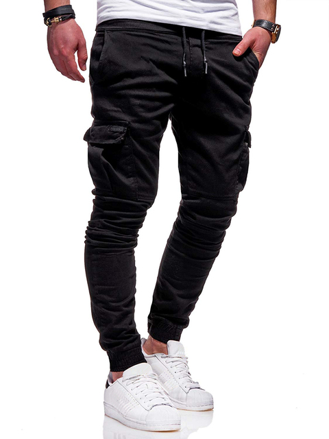 Autumn Men Joggers Pants 2020 New Casual Male Cargo Military Sweatpants Solid Multi-pocket Hip Hop Fitness Trousers Sportswear 23