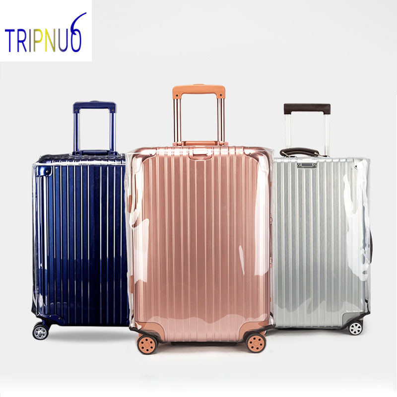 Transparent PVC Luggage Cover Waterproof Suitcase Protective Cover To 20-30inch Trolley Case Non-slip/Anti-fall/Scratchproof