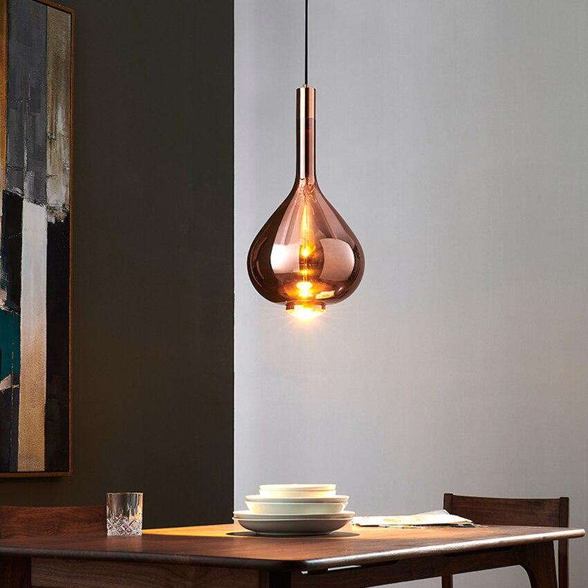 Moderne Designer Kunst Bunte LED Anhänger Lichter Beleuchtung Glas Lange Linie Anhänger Lampe Restaurant Innen Café Decor Leuchte - 4