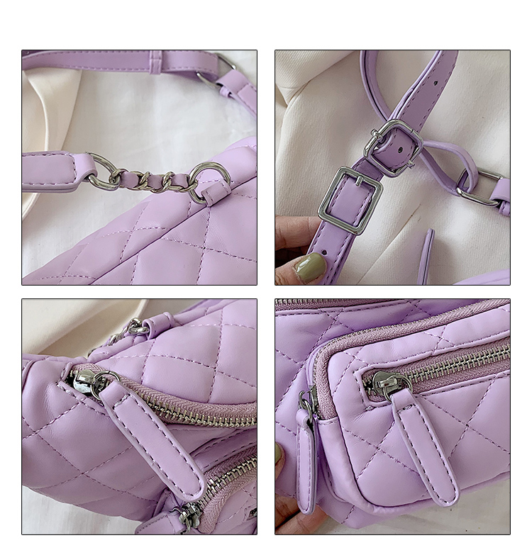Women Waist Packs Leather Fanny Lingge Belt Bags New High Quality Shoulder Wild Messenger Fashion Chest Crossbody Bag Pouch