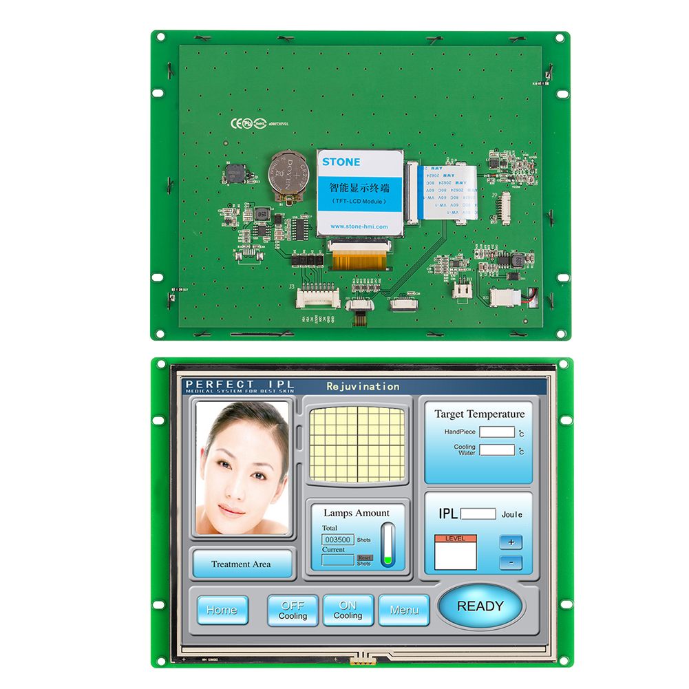 Intelligent 8.0 TFT LCD Module Connected By RS232/RS485/TTL Level Directly With Embedded System