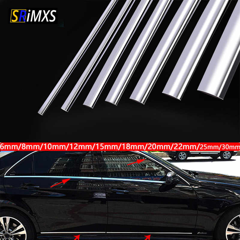 5m x 25mm Chrome Molding Trim Strip for Car Body Door Side Roof Decorate