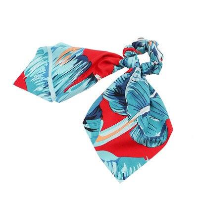 Модный летний шарф «конский хвост», эластичная лента для волос для женщин, бантики для волос, резинки для волос, резинки для волос с цветочным принтом, ленты для волос - Цвет: S4