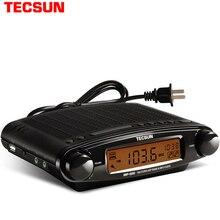 Tecsun relógio multimídia usb, rádio fm, MP 300, dsp, som estéreo, mp3 player, ats, preto, fm, receptor y4137a tecsun mp300 mp300