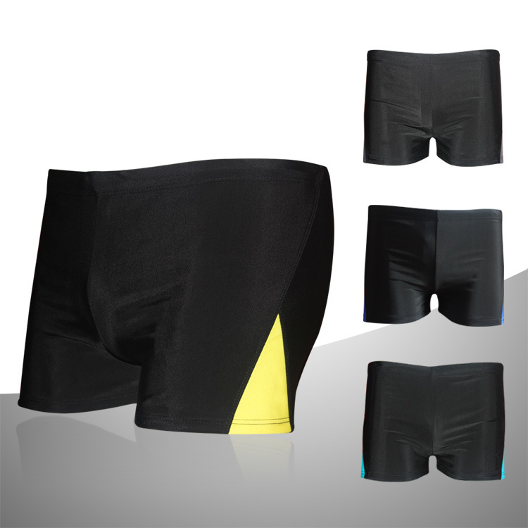 Color Panel Swimming Trunks New Style Men's Swimming Trunks Loose Boxer Beach Shorts Industry Quick-Dry Adult Swimming Trunks