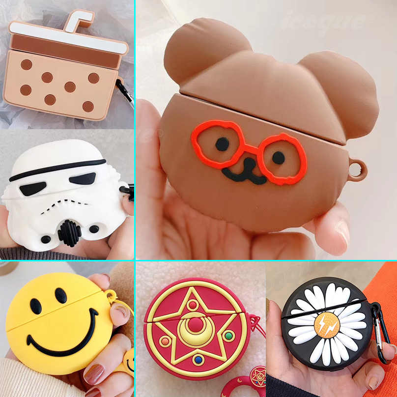 Animal Cartoon Case For Apple Airpods Pro Cute Case Silicone Bear