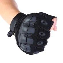 Противоскользящие тактические перчатки на полпальца, уличные военные защитные перчатки для пейнтбола, стрельбы, страйкбола, боевых резиновых тактических перчаток