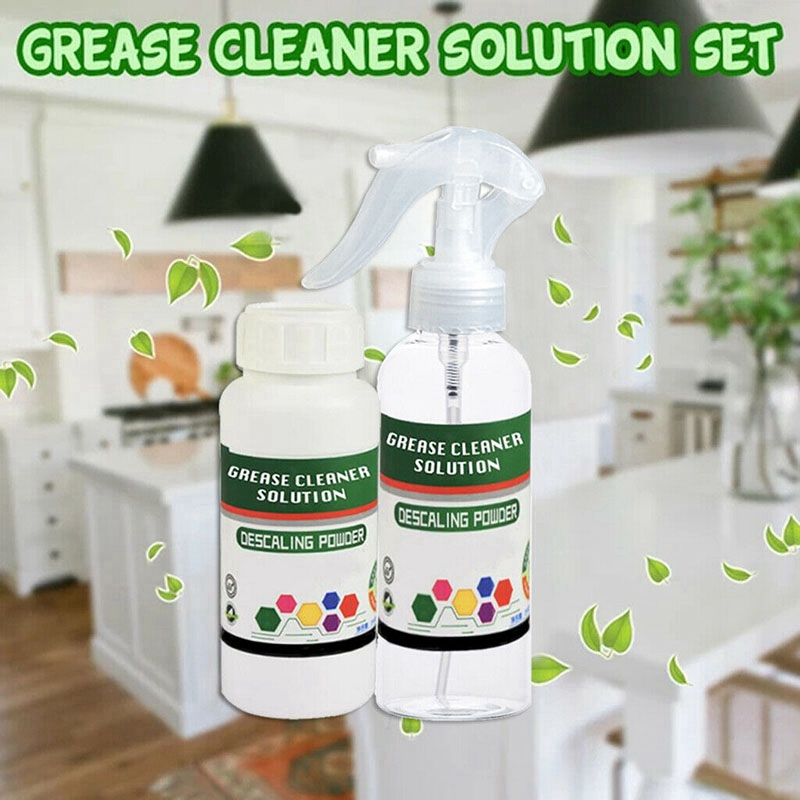 Grease Cleaner Solution Set Kitchen Grease Cleaner Multi Purpose Foam Cleaner with Purpose Bubble Cleaner Spray Bottle|Cooktop Cleaner| |  - title=
