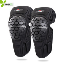 WOSAWE Roller Knee Protector Reflective Snowboard Skateboarding Moto Ride Hockey Protective Gear Armor Support Brace Pads