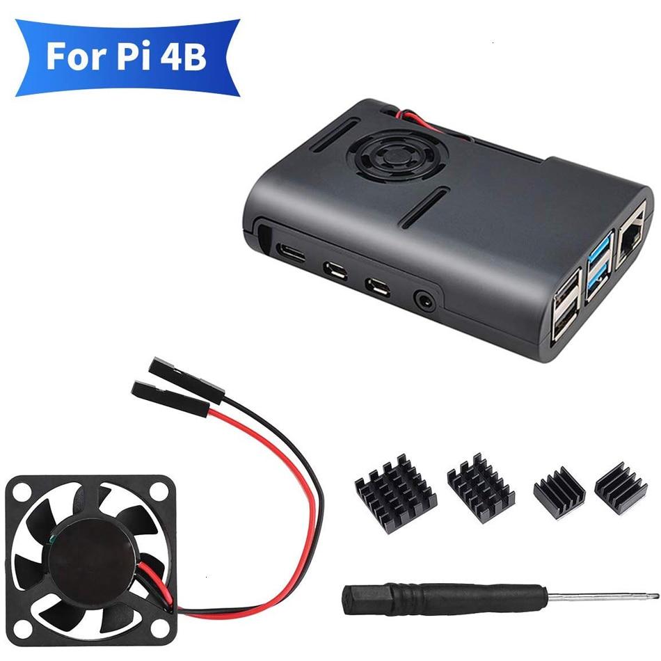 Raspberry Pi 4b Case With Cooling Fan And Heat Sink Heatsinks