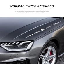 Calcomanía reflectante de automóvil negro láser blanco decoración de la etiqueta para Citroen C1 C2 C3 C4 C5 C6 C8 C4L DS3 DS4 DS5 DS6 DS5LS C-ELYSEE