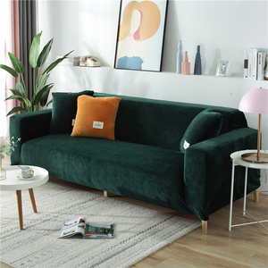 Soft Velvet Fabric Elastic Sofa Cover Thick Stretch Slip-resistant Sofa Cover for Living Room All-inclusive Slipcover