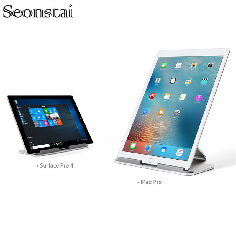 Support universel de tablette d'ergonomie d'alliage d'aluminium support de bureau de téléphone intelligent se tient le support de berceau pour la tablette d'ipad 7-13 pouces