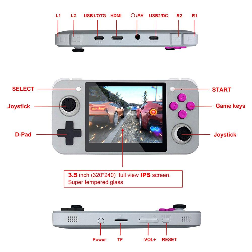 Novo jogo retro rg350 jogo de vídeo