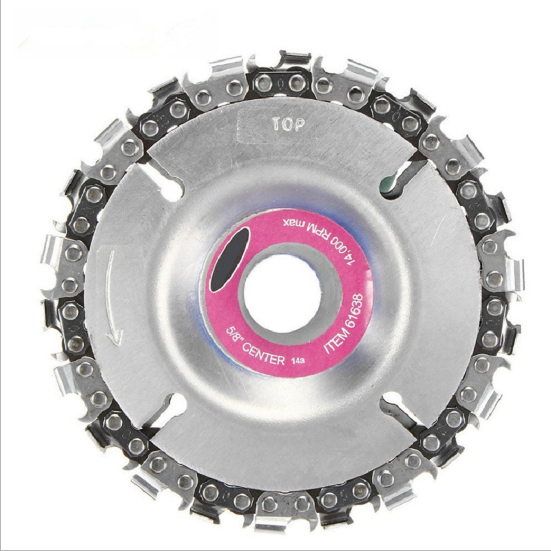 JOYLIVE 4 Inch 22 Teeth Cutting Chain Disc Grinder Disc Fine Chain Saw Angle Carving Woodworking Tool Kit