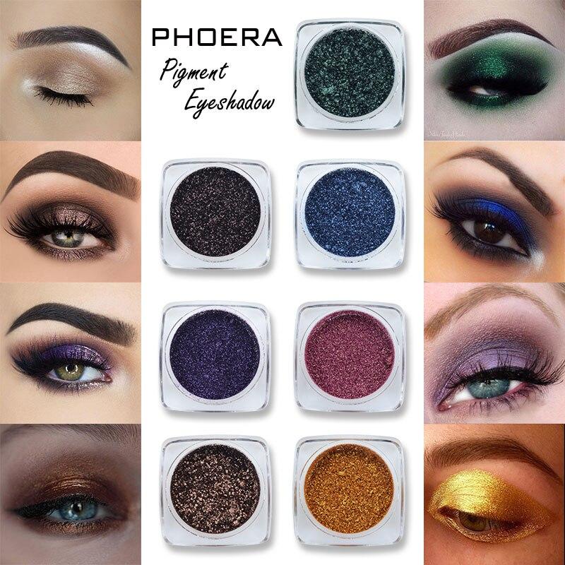 Монохромные тени для век PHOERA с мерцающим эффектом, Профессиональные Тени для век, Металлические тени для век, Мерцающая палитра для макияжа, набор для макияжа TSLM1