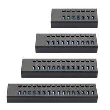Acasis 고속 5Gbps 쪼개는 도구 pc를위한 통합 독립적 인 힘 접합기를 가진 산업 USB 쪼개는 도구