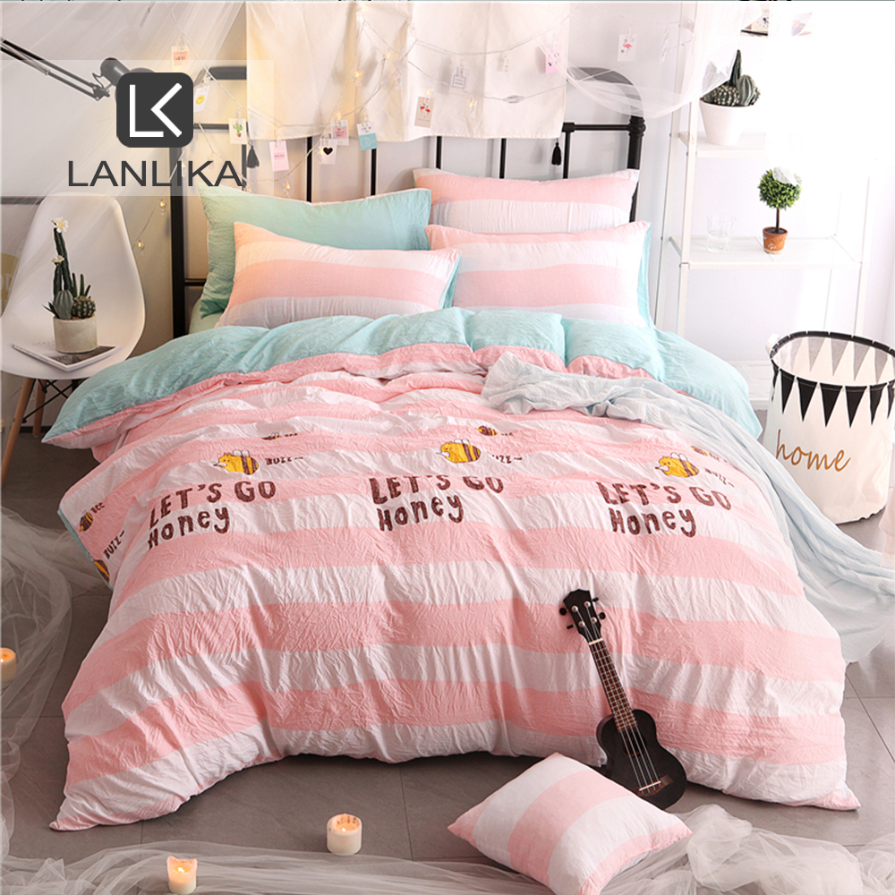 PINK AND GREY BEDDING Quilt Duvet Cover Set With Pillowcases Double king Size