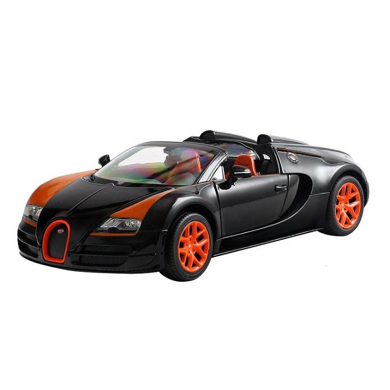 1:18 voiture modèle en alliage Bugatti Veyron voiture de sport à toit ouvert voiture de sport classique en métal avec 3 véhicules à traction ouverte