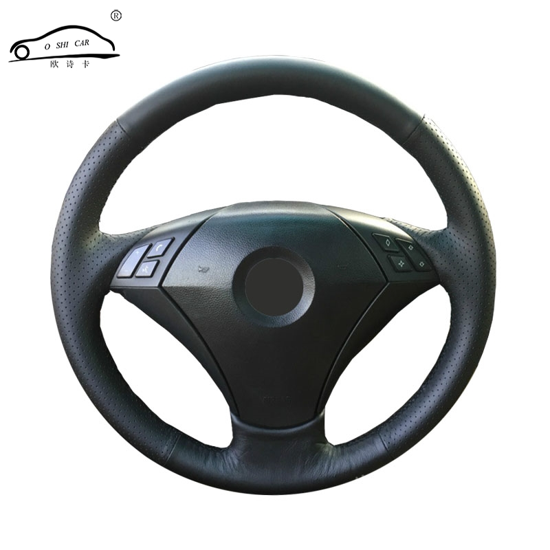 Artificial Leather car steering wheel braid for <font><b>BMW</b></font> 530 523 523li 525 520li 535 <font><b>545i</b></font> <font><b>E60</b></font> /Custom made Steering cover image