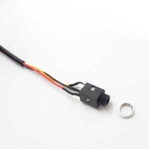 Image 5 - Kabel Audio 4Pin stóp Stereo gniazdo jack do słuchawek 3.5mm gniazdo z gwintowane podwójny kanał 3.5mm żeński do żeńskiego rozszerzenie audio kabel