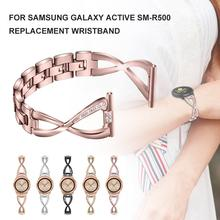 For Samsung Galaxy Active SM-R500 Replacement Wristband Universal Diamond Bands Trend Strap