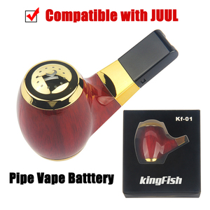 Электронная сигарета с деревянной дымовой трубой, испаритель, Стартовый Набор 900 мАч, ручки KF 01, картридж для электронной сигареты Juul, чехол ...