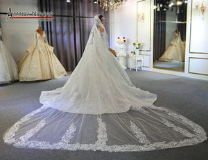 Image 4 - Off the shoulder long sleeves beautiful wedding dress lace bridal dress 2020