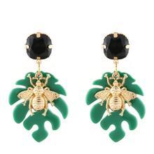 Kolczyki for Women Resin Drop Earrings Zinc Alloy Luxury Dinner Party Hot Jewelry WholesaleFashion