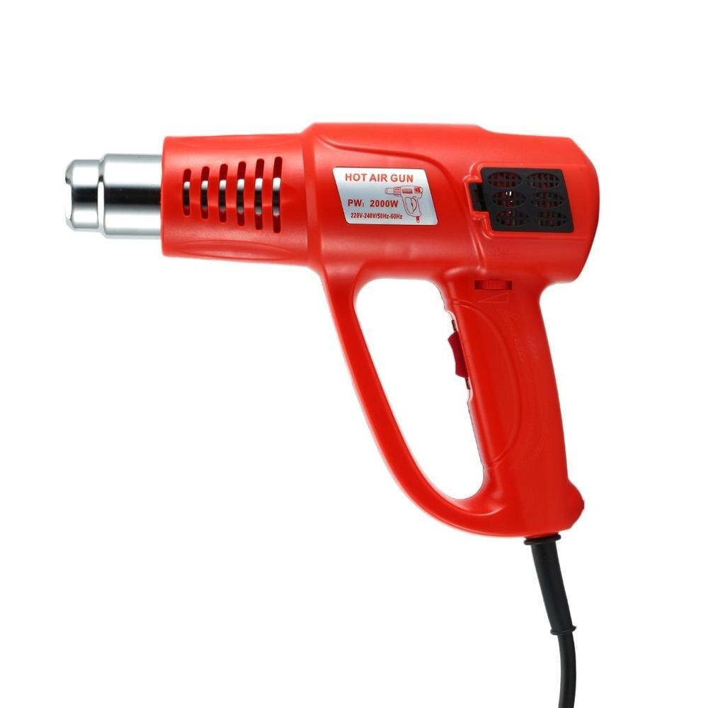 2000W Electric Hot Air Gun Temperature Adjustable Heat Air Blower Shrink Paint Stripper Thermal Power Tool