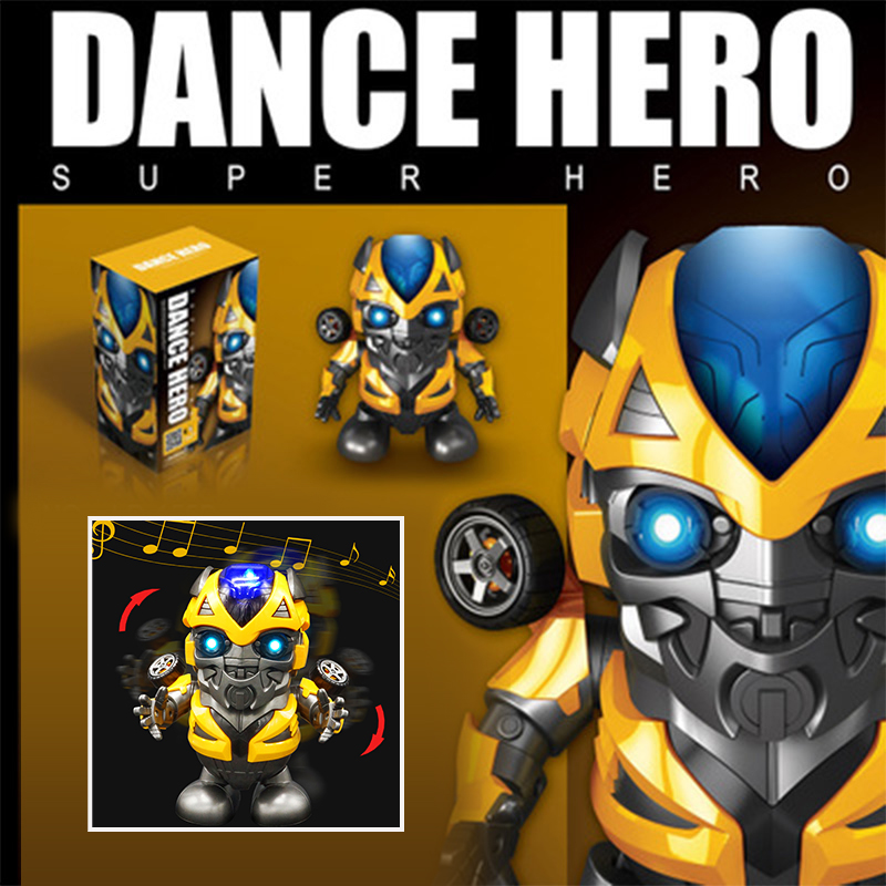 Dance Bumblebee Man Action Figure Toy LED Flashlight with Sound Avengers The Transformers Hero Electronic Toy image