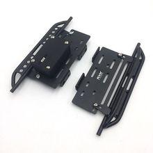 KYX سباق المعادن الجانب خطوة تشغيل لوحات القدم لوحة ث/صندوق استقبال ل RC الزاحف سيارة محوري SCX10 II 90046 313 مللي متر رانجلر الجسم