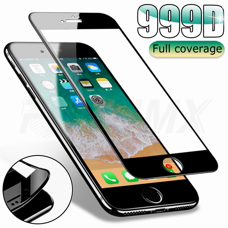 999D Full Cover Tempered Glass For IPhone SE 2020 7 8 Plus Screen Protector Glass For Iphone 6 6S Plus Protective Glas Film Case