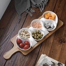 Креативное керамическое маленькое блюдо с поддоном Стиль Ресторан Снэк блюдо сетка соус блюдо WF10301102