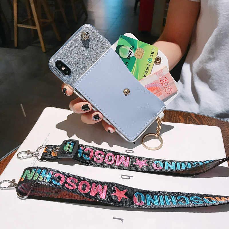Cinturino da polso Cassa Del Raccoglitore Per Samsung Galaxy Note 10 Pro 8 9 5 J7 J5 Prime Su 5 7 2018 2016 Cordino Caso di Bling Della Copertura
