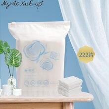 Tampons de coton jetables Double face 3 couches, lingettes douces, tampons démaquillants, papier ultra-fin pour le nettoyage du visage, outils de maquillage