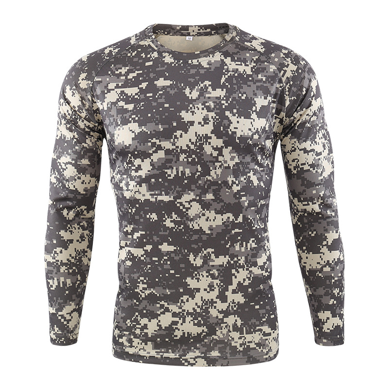 Mannen Quick Dry Tactische Camouflage T shirt Ademend Casual O hals Met Lange Mouwen Militaire Overhemd Combat Camo Leger T Shirts S 3XL - 2