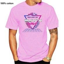 Maglietta da uomo divertente maglietta novità donna ritorno della maglietta retrò Synthwave